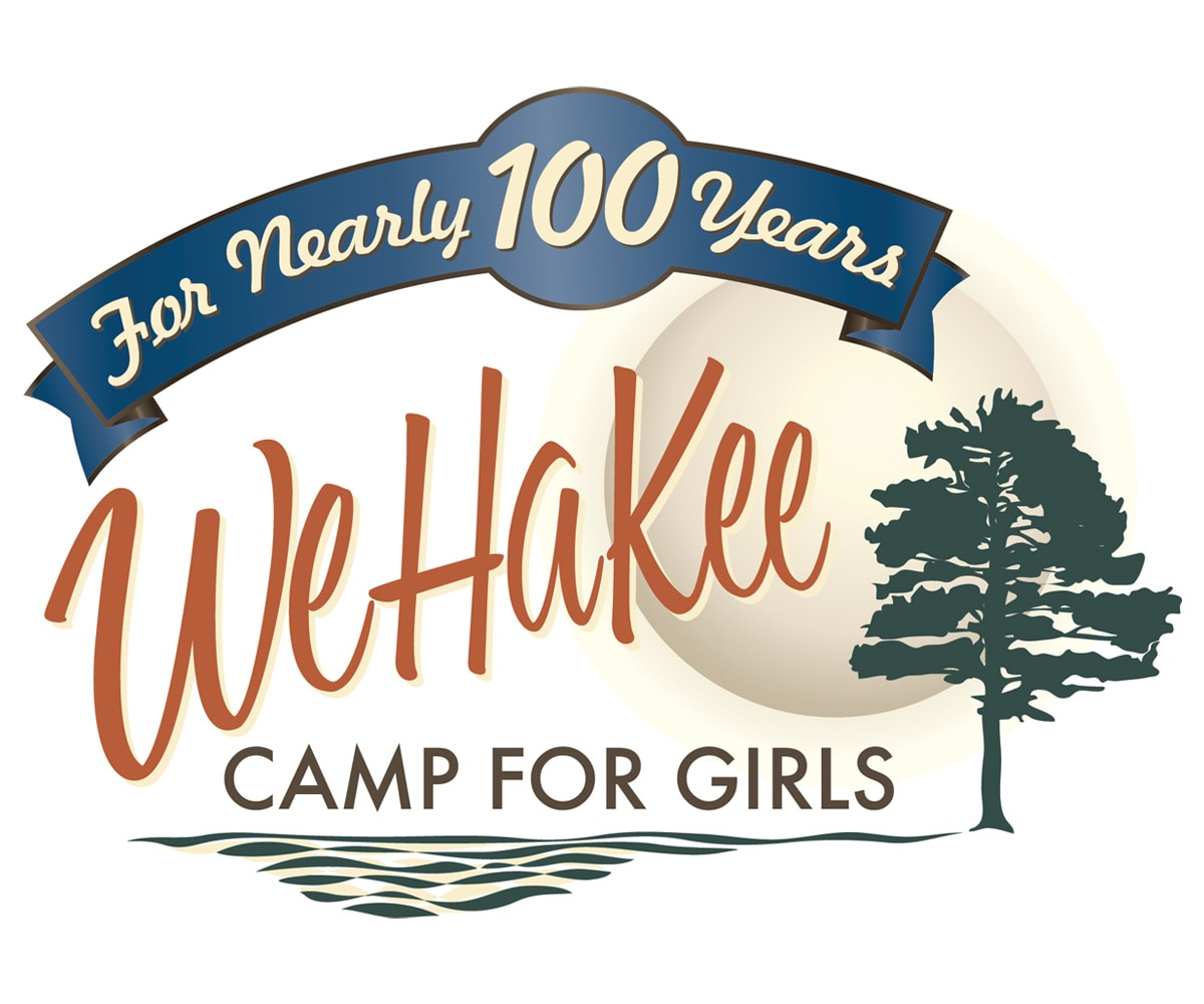 The BLÜ Group Client: WeHaKee Camp for Girls Campers Full Color Logo