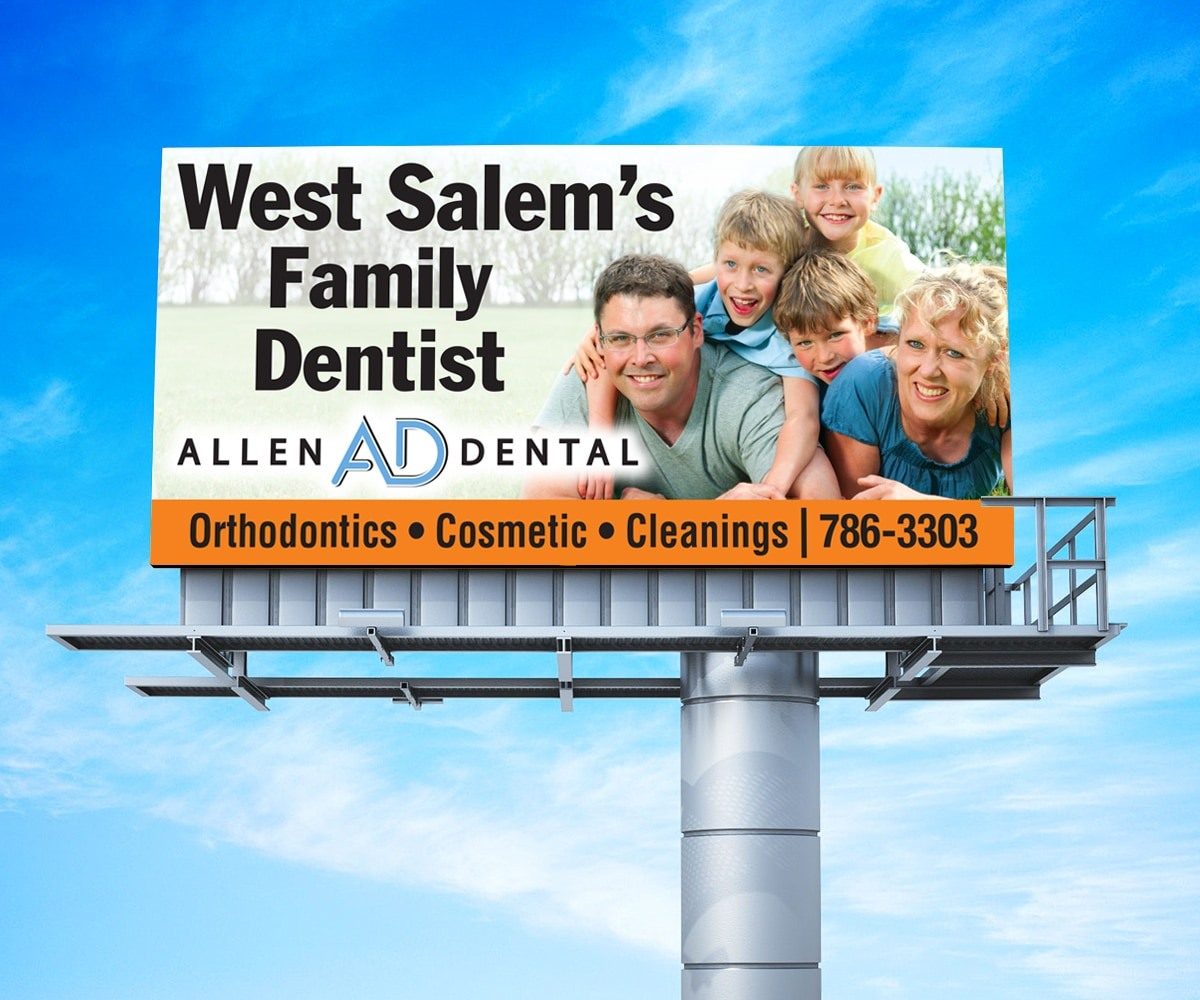 The BLÜ Group Client: Allen Dental - Family Dentist Billboard