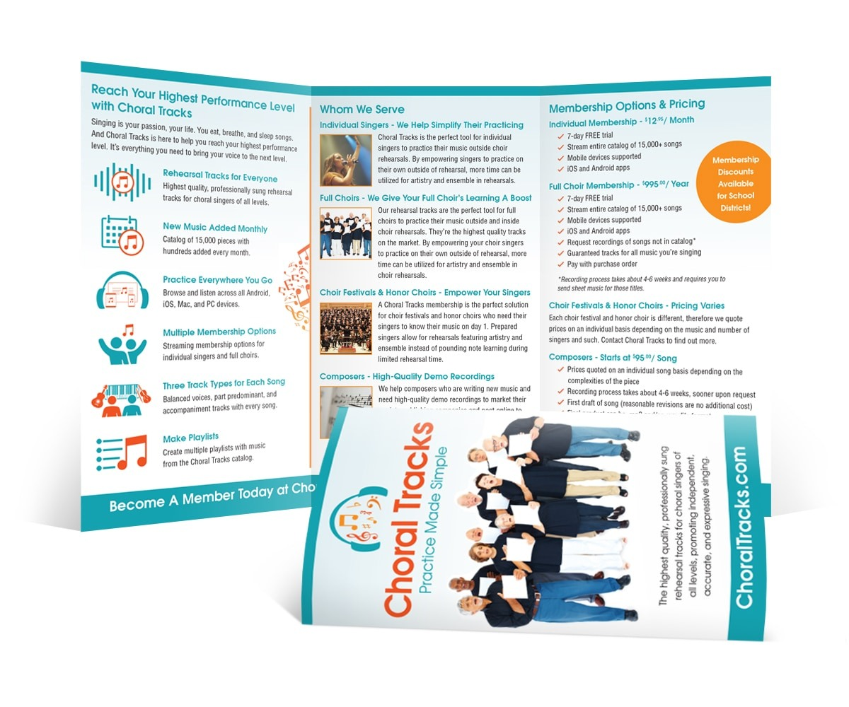 The BLÜ Group Client: Choral Tracks - Practice Made Simple - Brochure