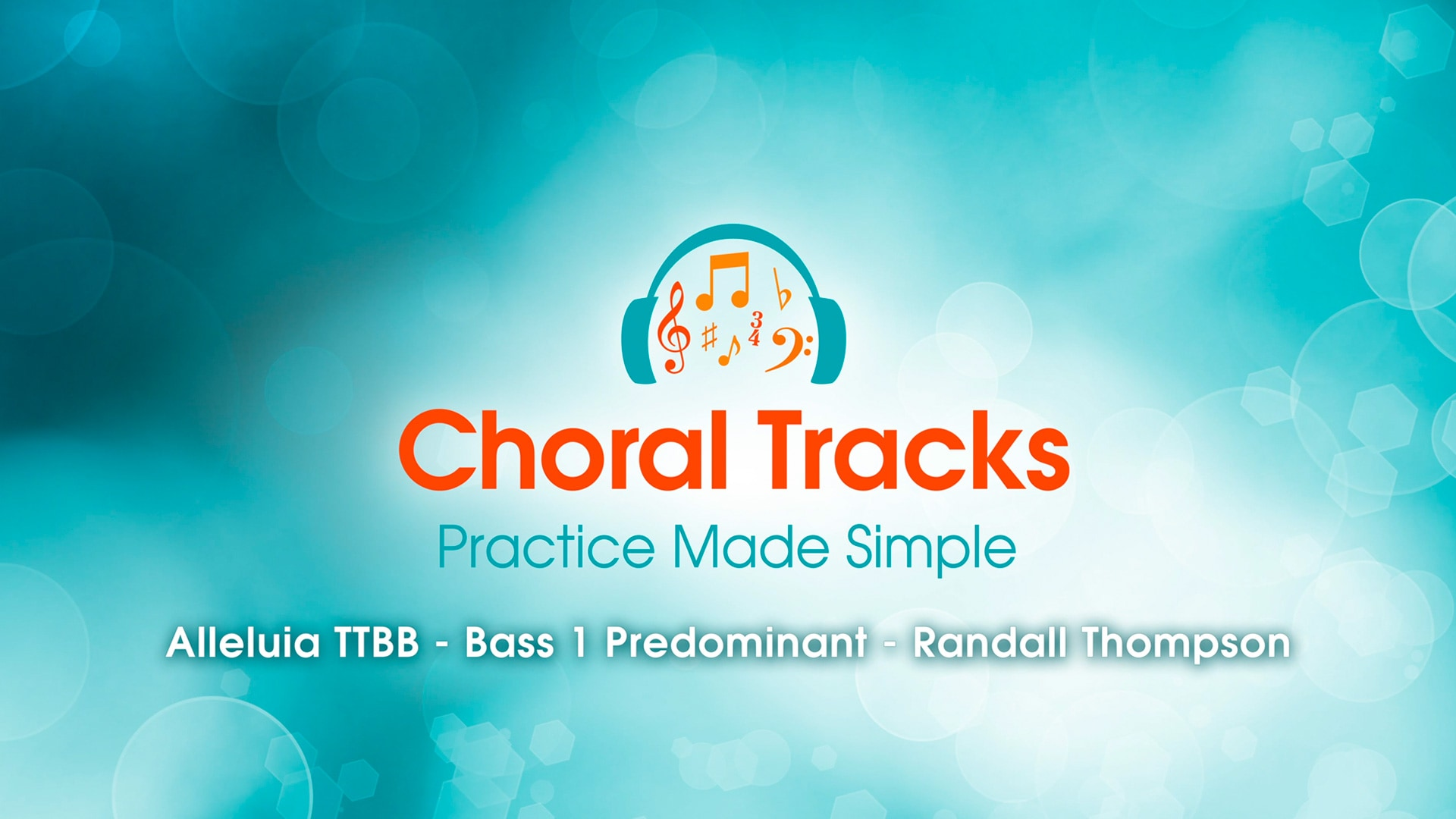 The BLÜ Group Client Work: Choral Tracks - Video of Alleluia (TTBB), Bass1 Predominant by Randall Thompson, Sung by Matthew Curtis