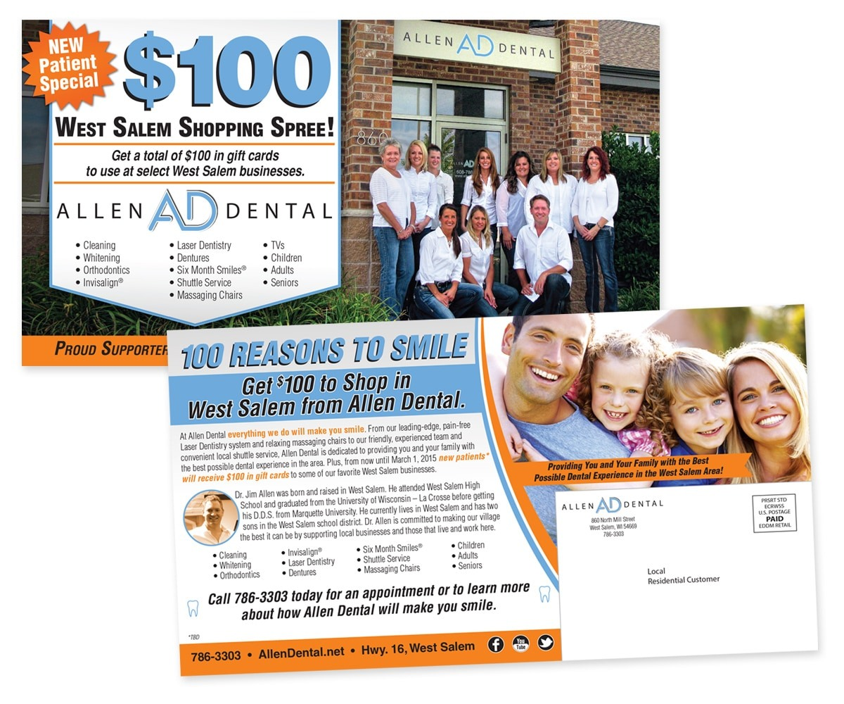 The BLÜ Group Client: Allen Dental - New Customer Special Direct Mail