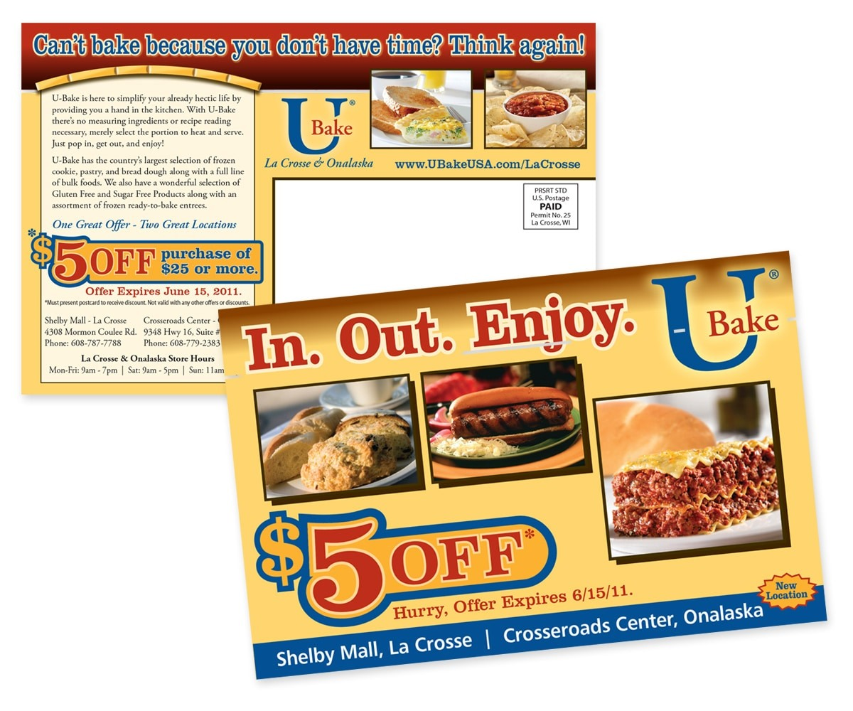 The BLÜ Group Client: U-Bake - Giving You A Hand in the Kitchen, $5 Off Coupon - Direct Mail