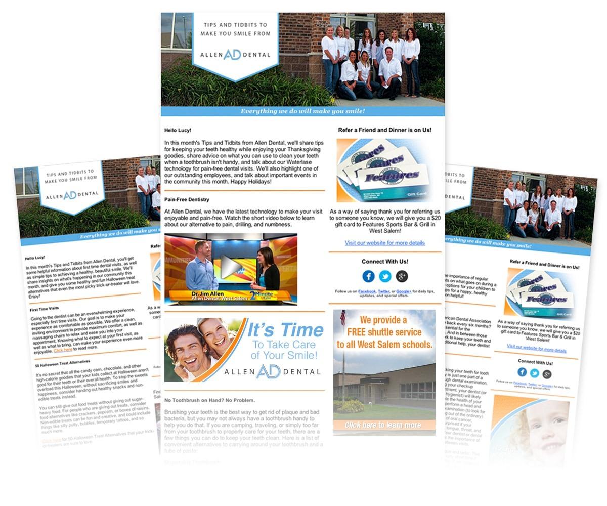 The BLÜ Group Client: Allen Dental - E-newsletter