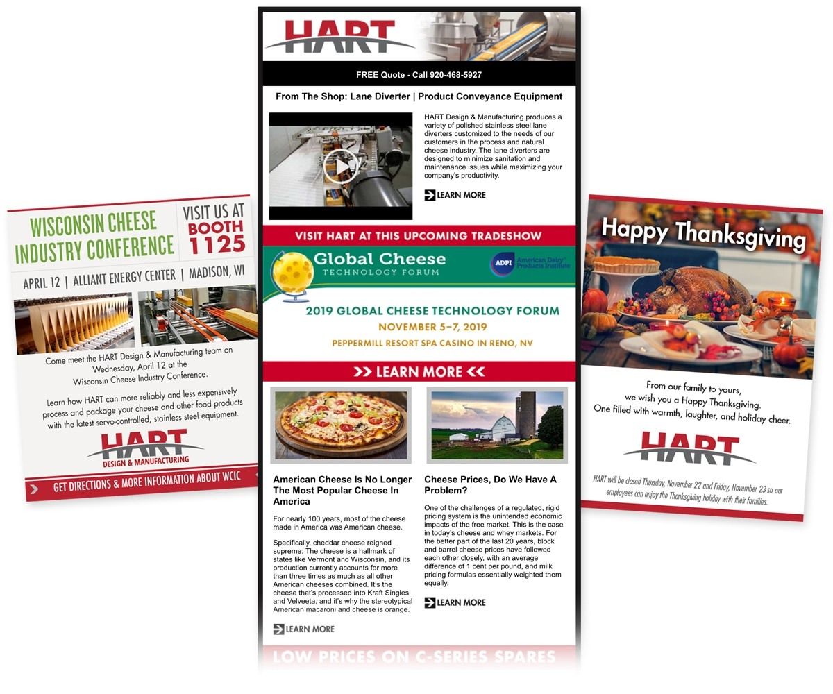 The BLÜ Group Client: HART Design & Manufacturing - E-Newsletters