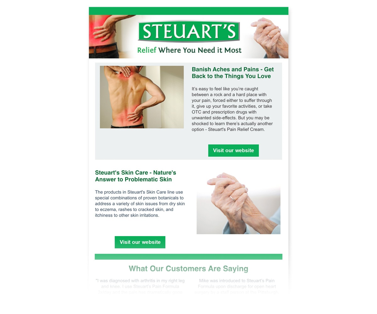 The BLÜ Group Client: Steuart's - E-newsletter