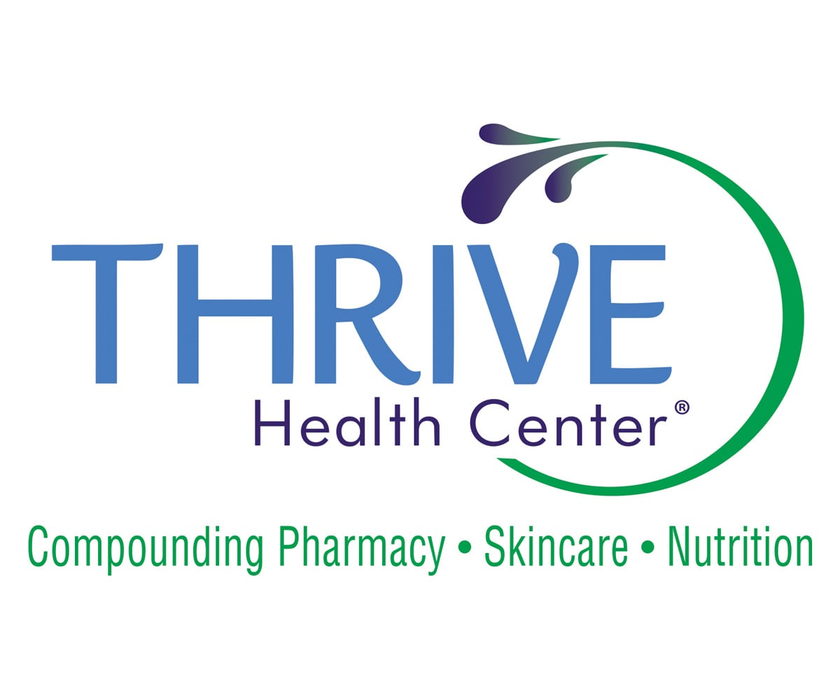 The BLÜ Group Client: Thrive Health Center - Compounding Pharmacy - Skincare - Nutrition - Logo
