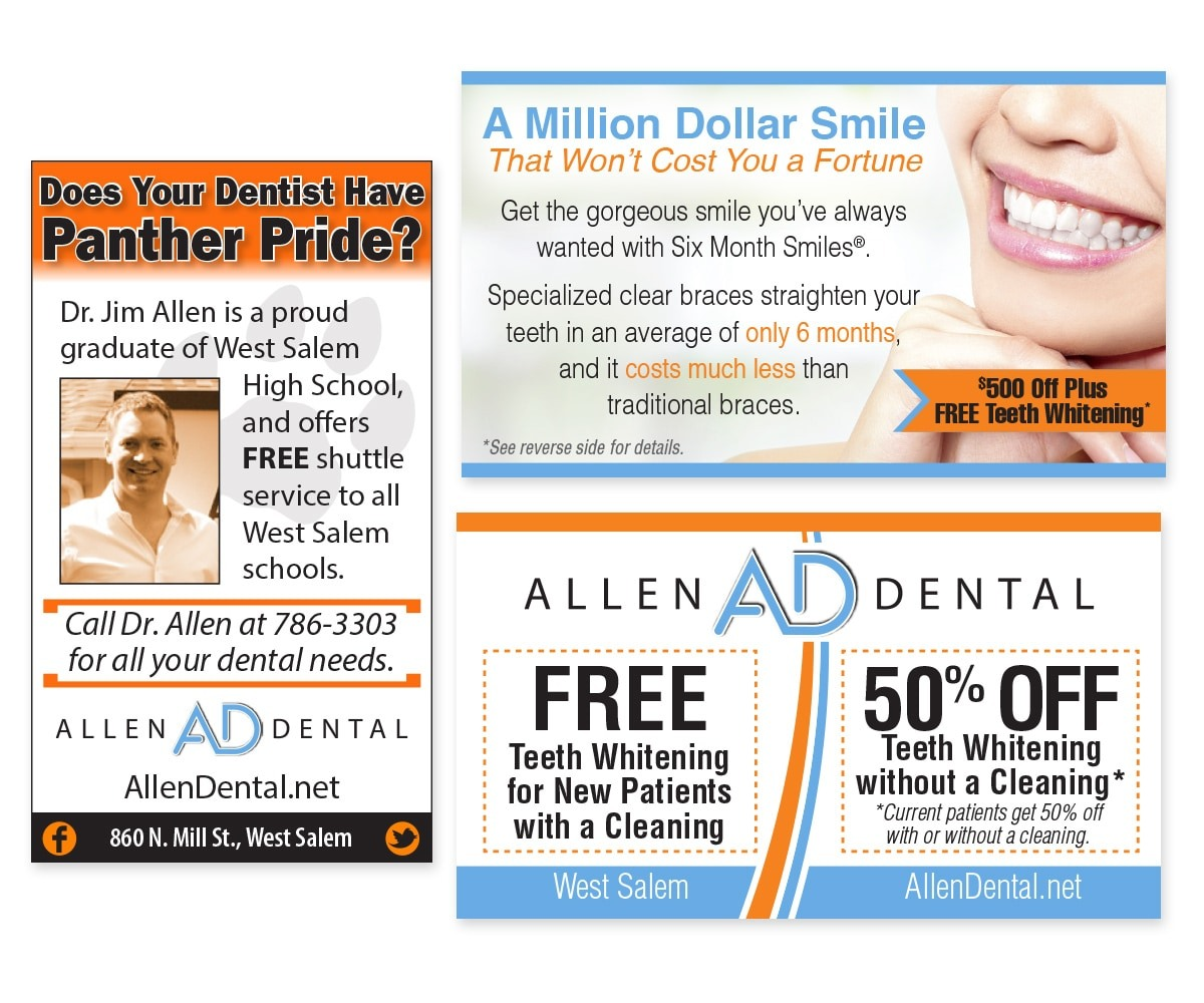 The BLÜ Group Client: Allen Dental - Print Ads