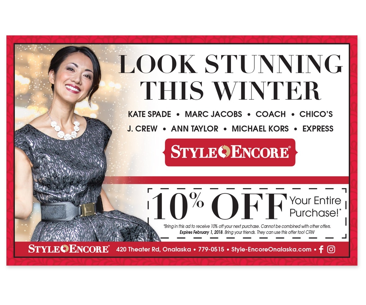 The BLÜ Group Client: Style Encore - Look Stunning This Winter - Holiday Print Ad