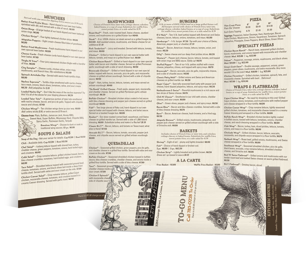 The BLÜ Group Client: Nutbush City Limits - To Go Menu Brochure
