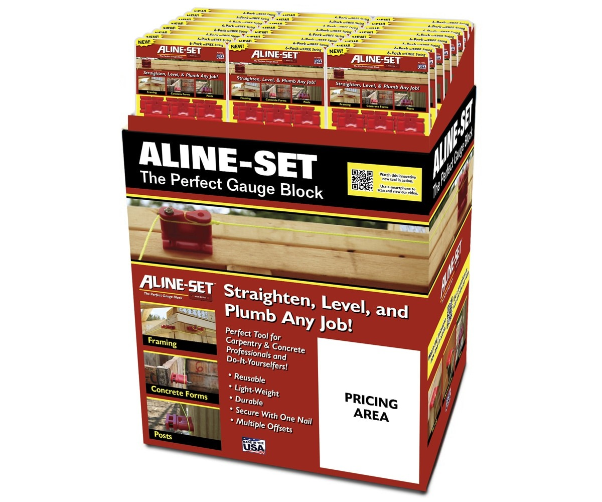 The BLÜ Group Client: Aline-Set - Gauge Block In-Store Product Display