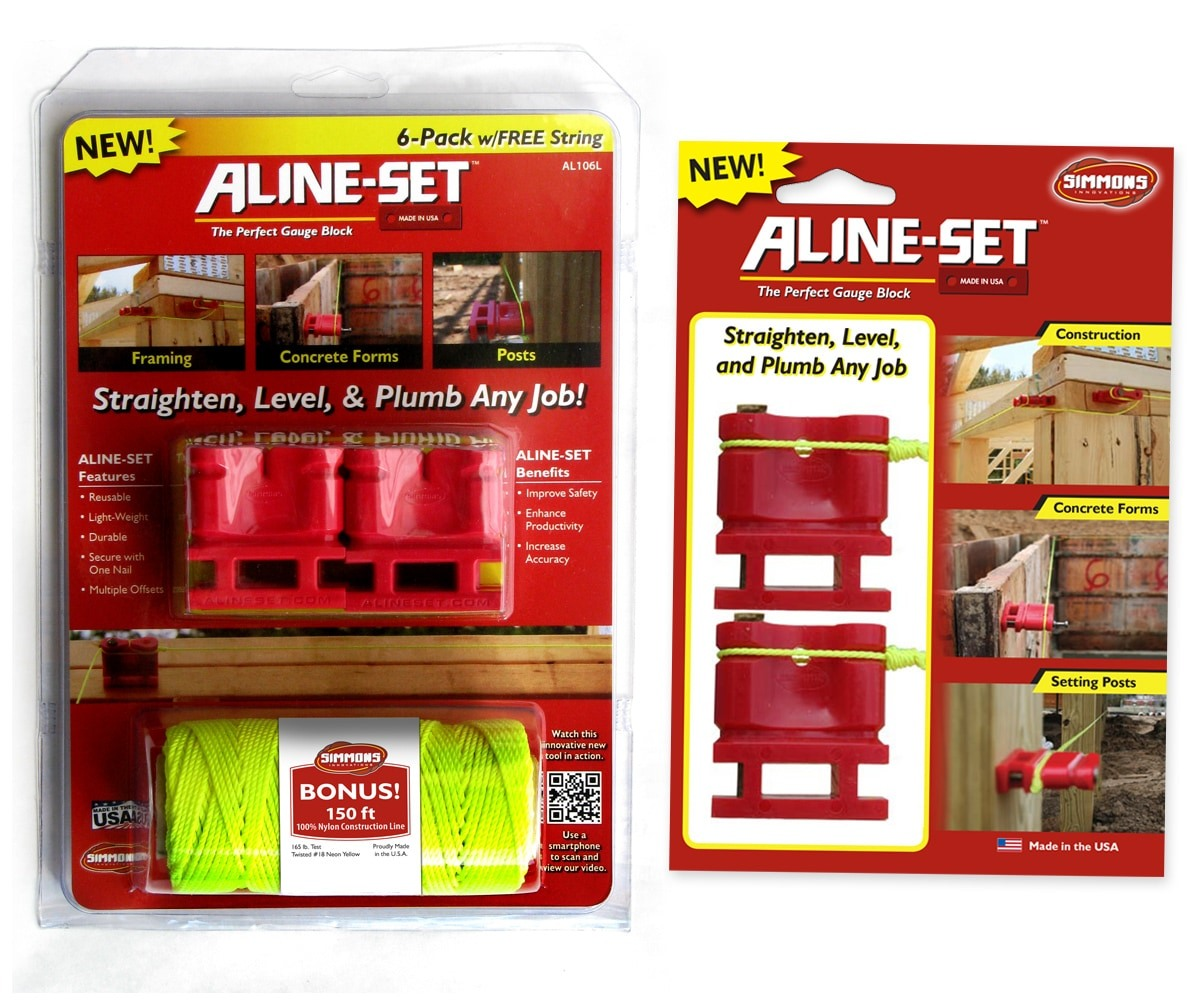 The BLÜ Group Client: Aline-Set - Gauge Block 6-Pack with String and 2-Pack Product Packaging