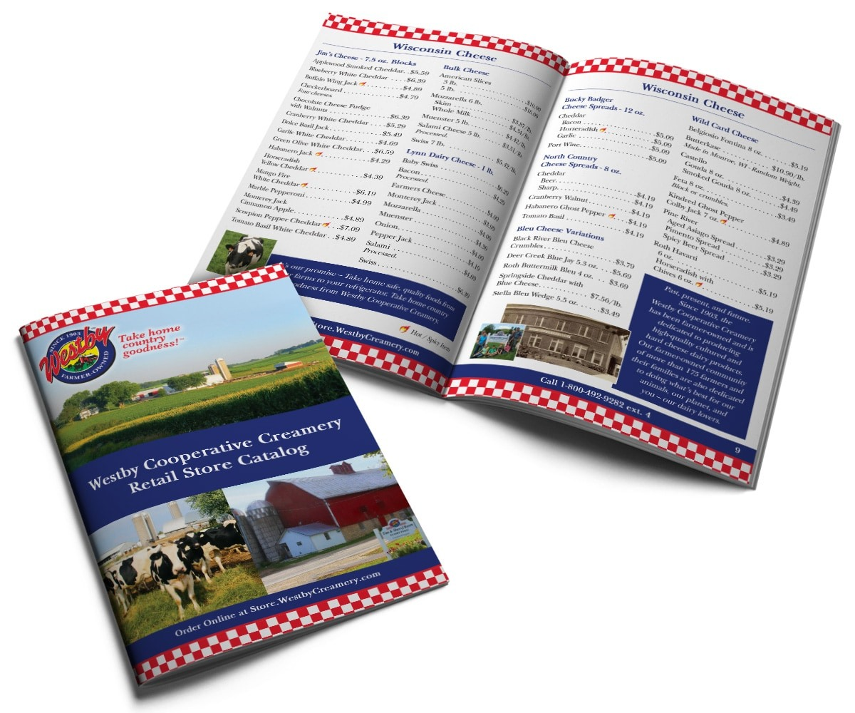 The BLÜ Group Client: Westby Cooperative Creamery - Store Brochure