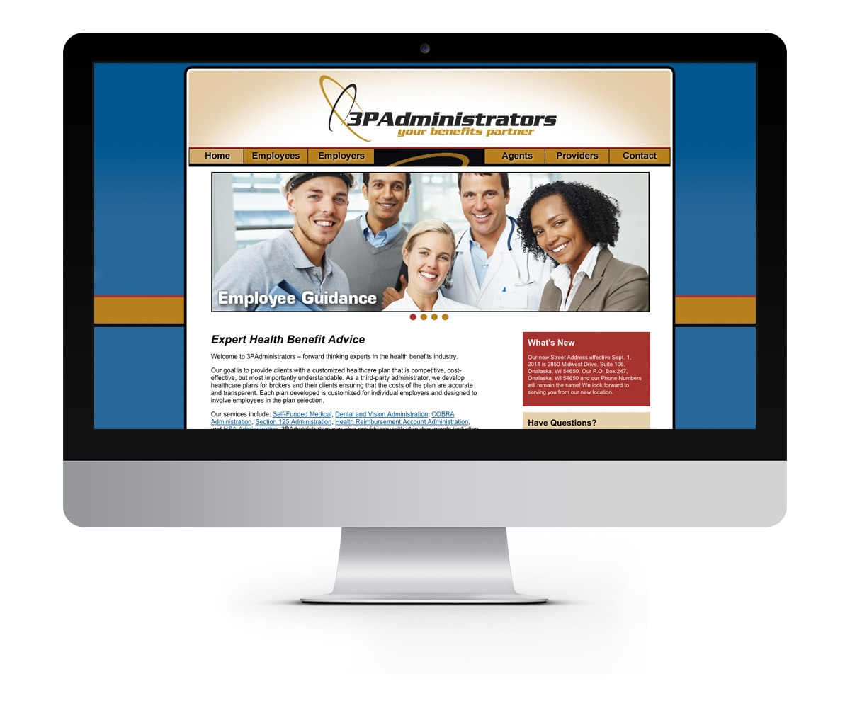 The BLÜ Group Client: 3PAdministrators - Healthcare Plans Website
