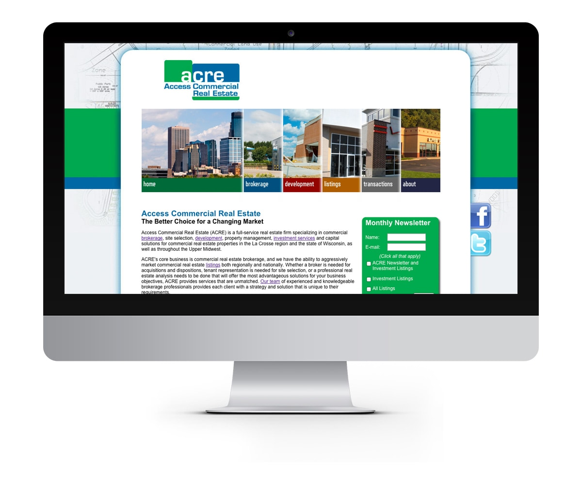 The BLÜ Group Client: Access Commercial Real Estate - Website