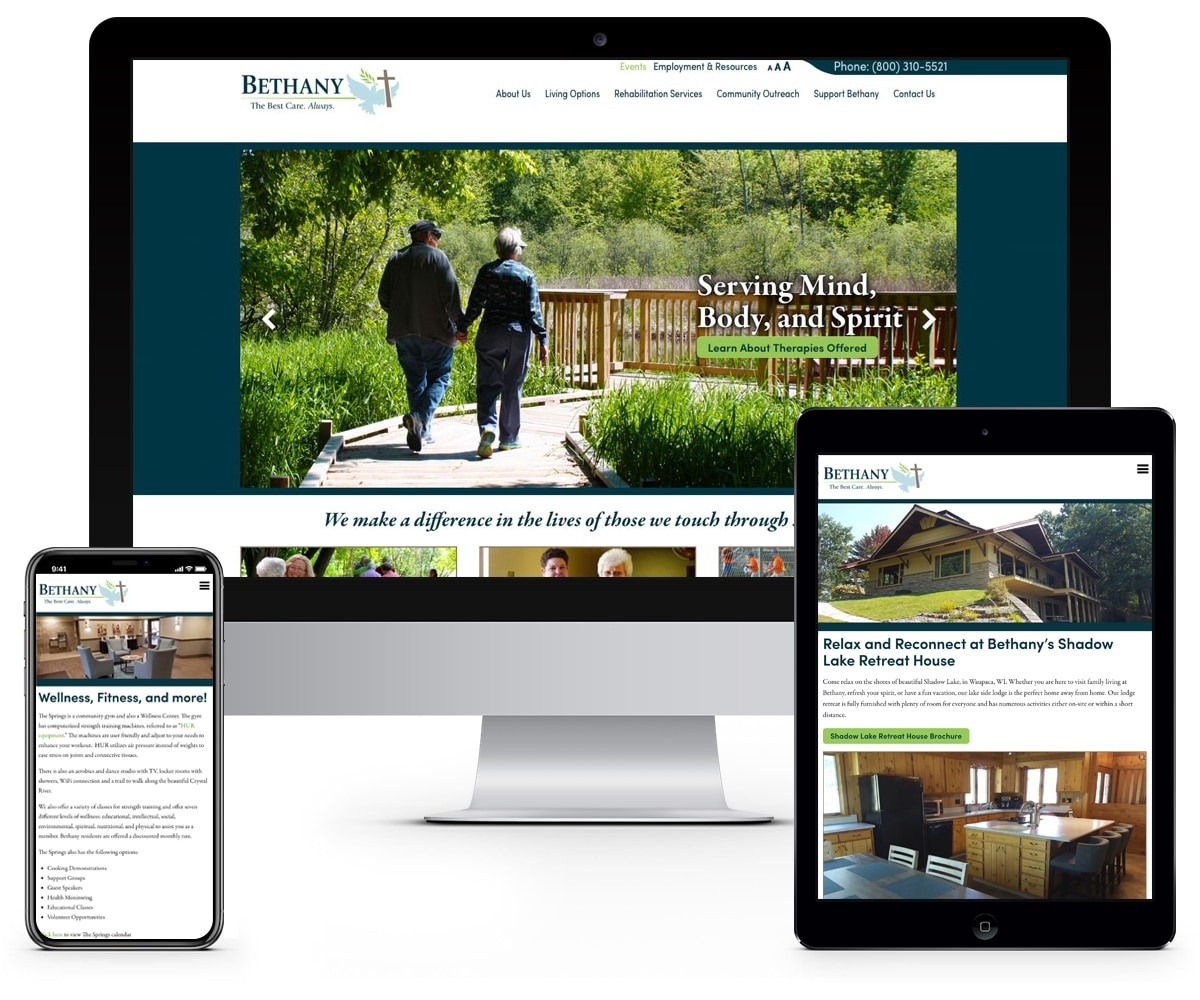 The BLÜ Group Client: Bethany - Healthcare and Rehabilitation - Website