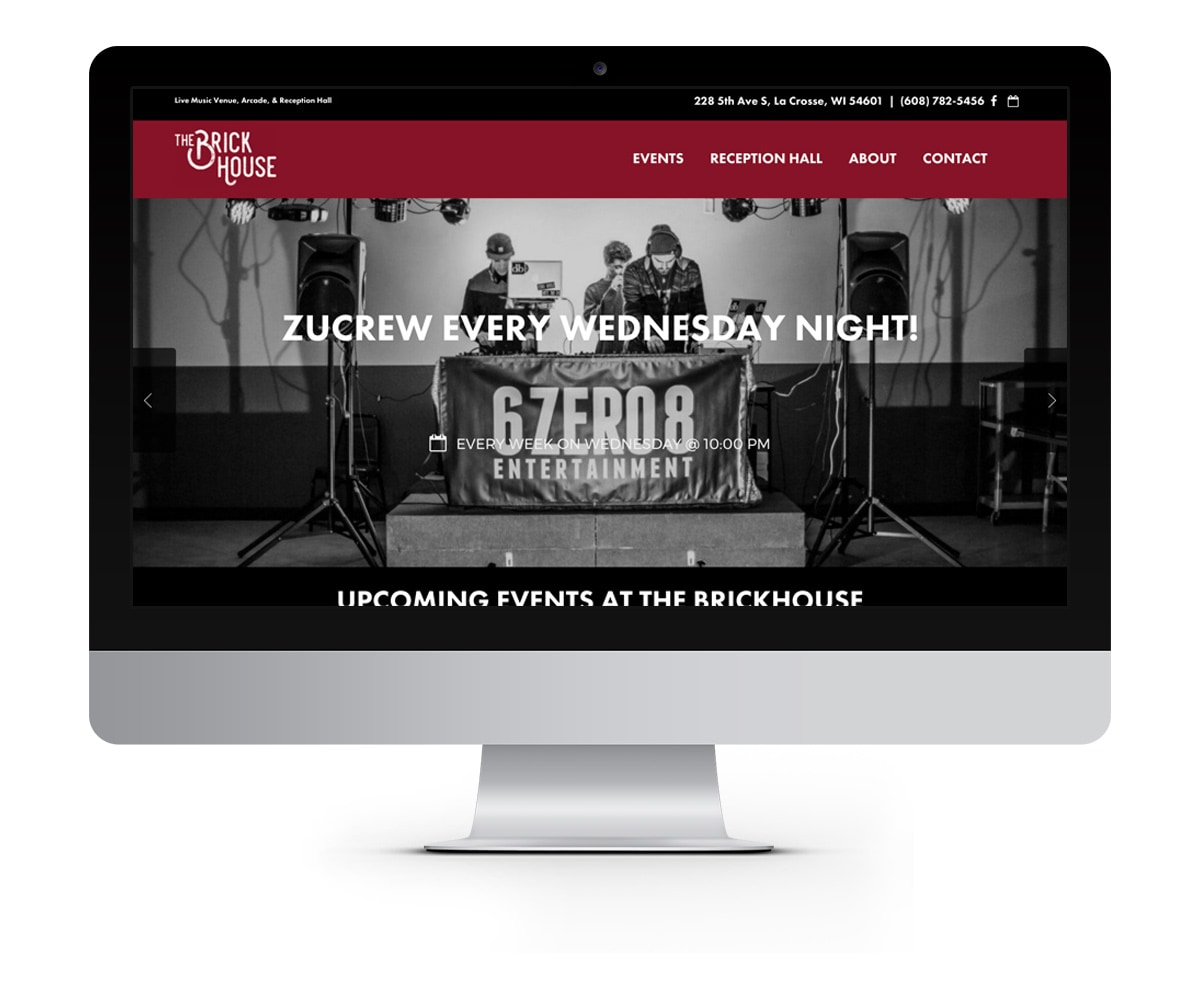 The BLÜ Group Client: The Brick House - Music and Event Venue Website