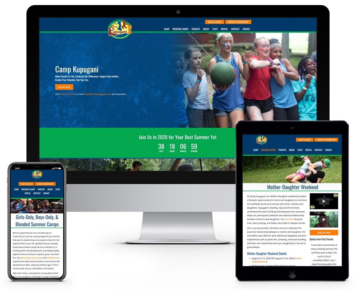 The BLÜ Group Client: Camp Kupugani - Multi-Cultural Kids Summer Camp - Website