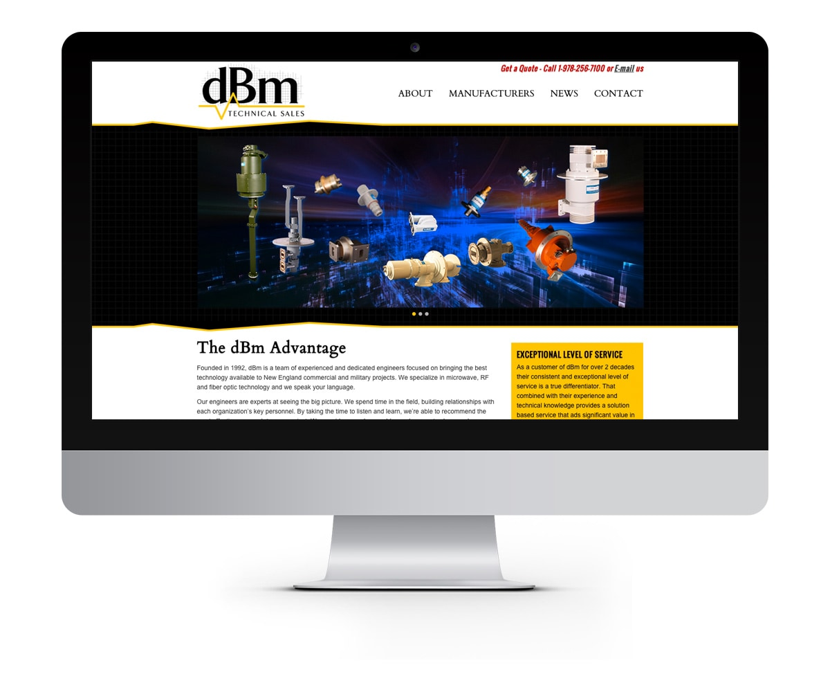 The BLÜ Group Client: dBm Technical Sales - Engineering Website