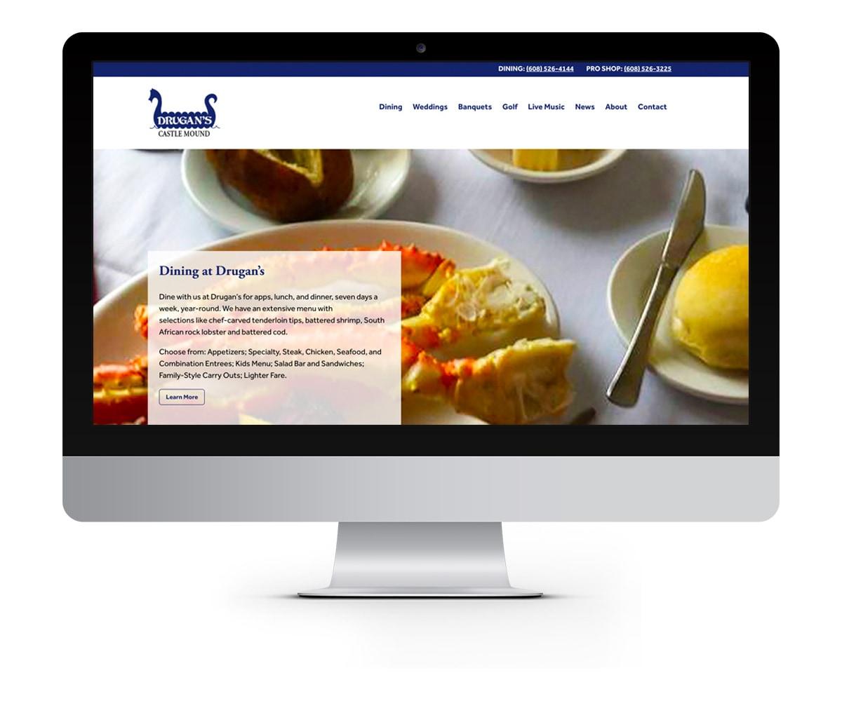 The BLÜ Group Client: Drugan's Castle Mound - Golf and Restaurant Website
