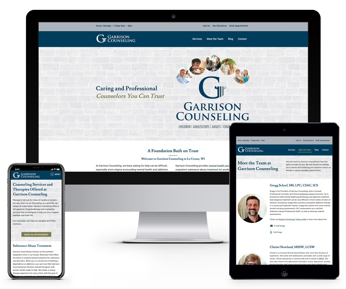 The BLÜ Group Client: Garrison Counseling - Website