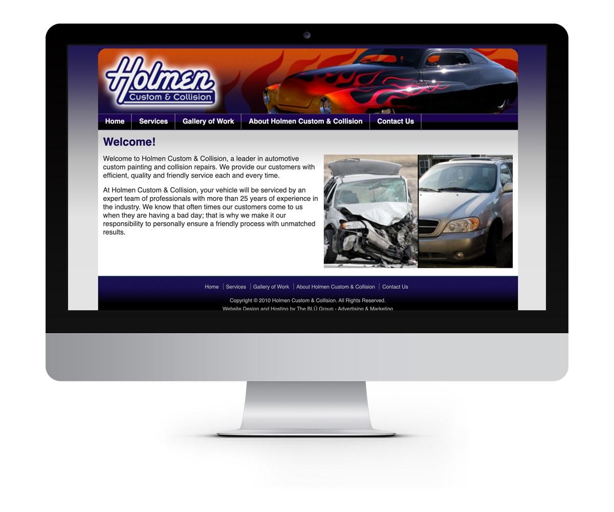 The BLÜ Group Client: Holmen Custom and Collision - Automotive Website