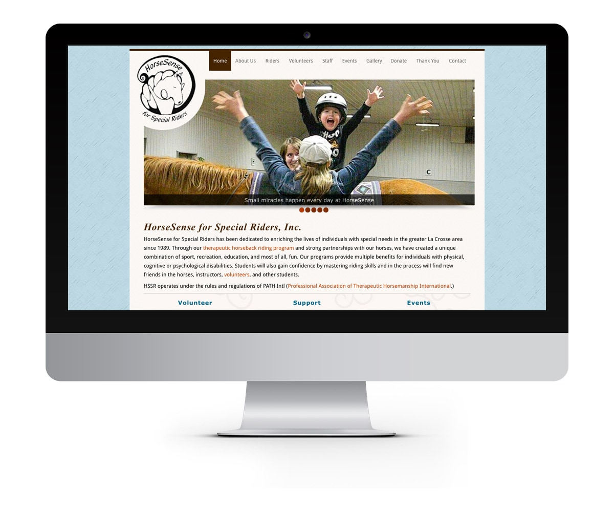 The BLÜ Group Client: Horse Sense for Special Riders - Horseback Riding Therapy Website