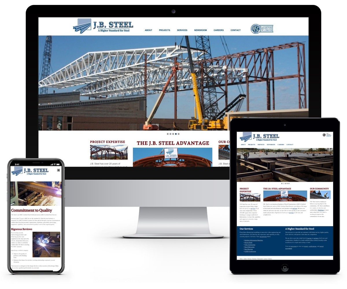 The BLÜ Group Client: J.B. Steel - Engineering and Construction Website