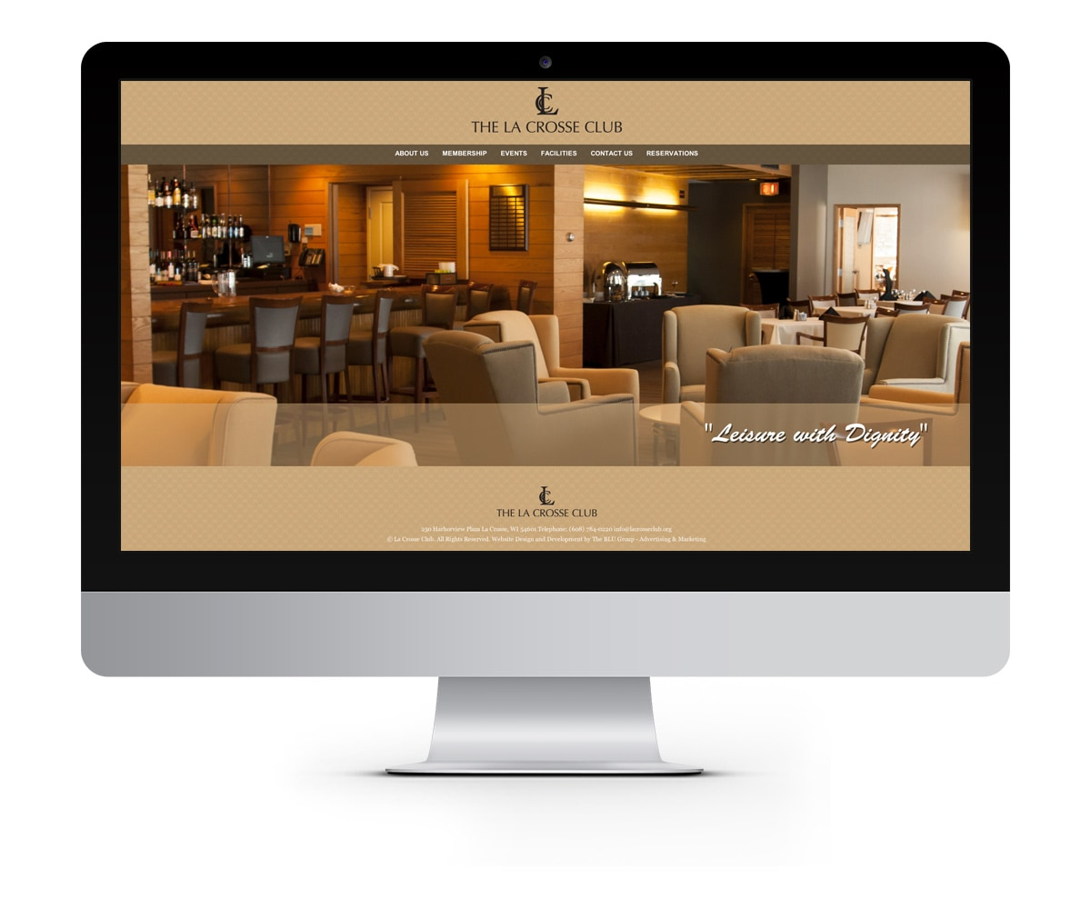 The BLÜ Group Client: La Crosse Club - Private Organization Website