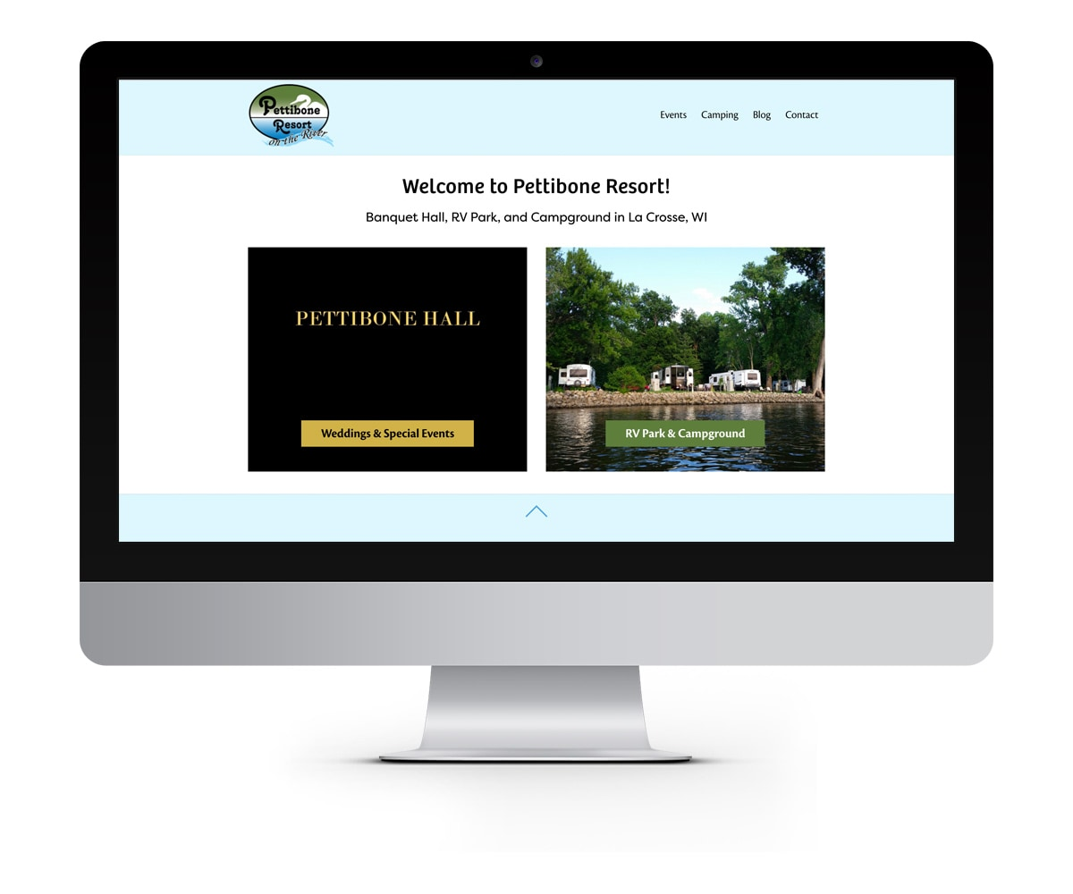 The BLÜ Group Client: Pettibone Resort - Website