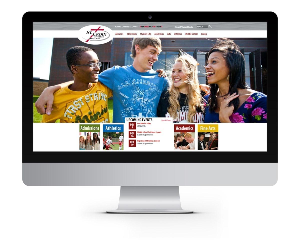 The BLÜ Group Client: St. Croix Lutheran - School Website