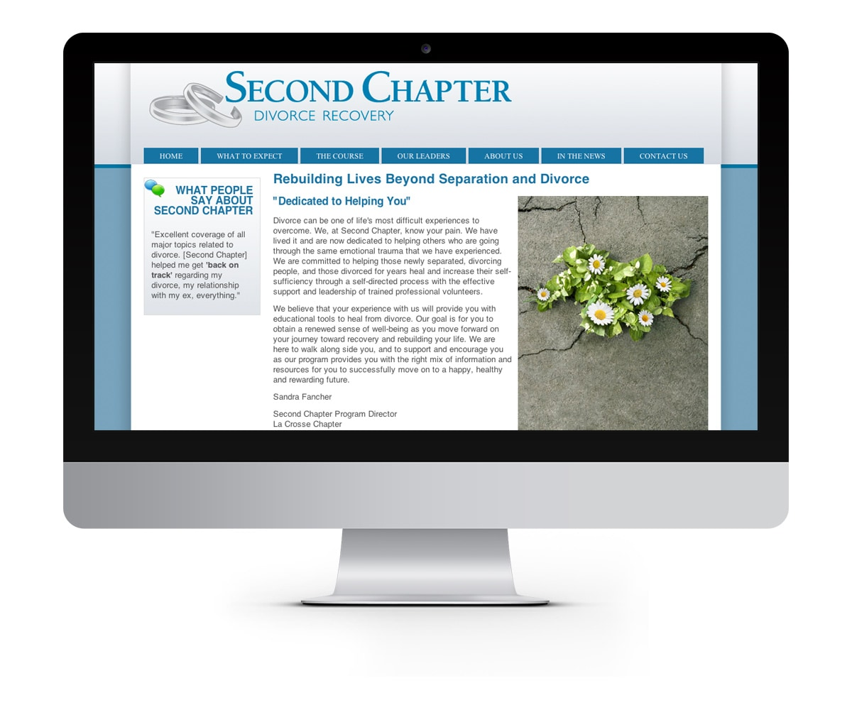 The BLÜ Group Client: Second Chapter - Divorce Recovery - Website