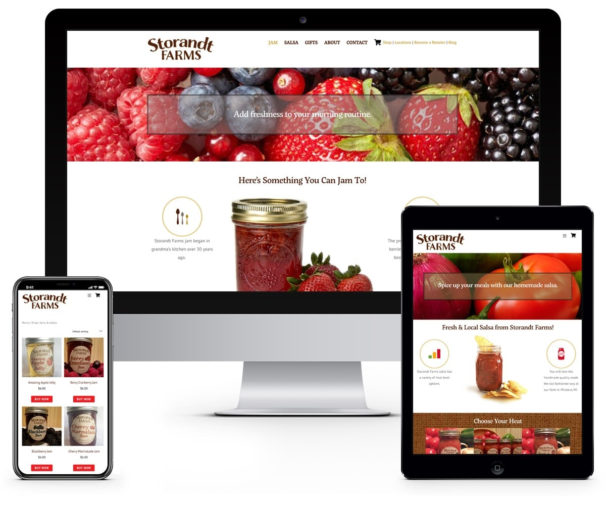 The BLÜ Group Client: Storandt Farms - E-Commerce Website