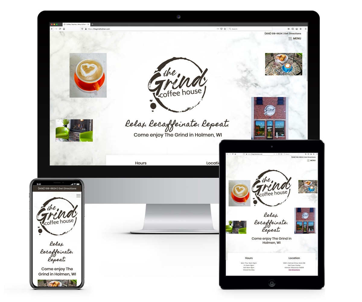 The BLÜ Group Client: The Grind Coffee House - Website