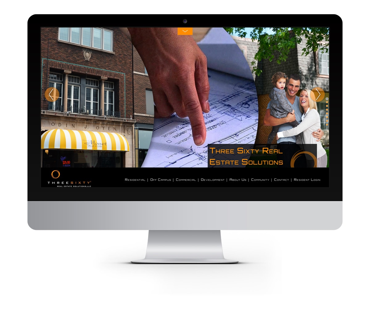 The BLÜ Group Client: Three Sixty Real Estate - Website