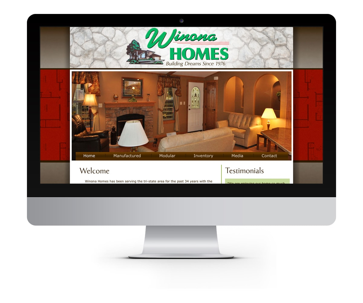 The BLÜ Group Client: Winona Homes - Construction and Home Building Website